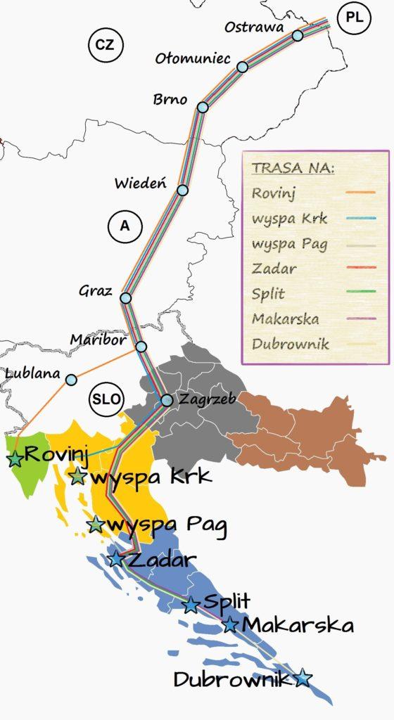 najlepsza trasa na Chorwację
