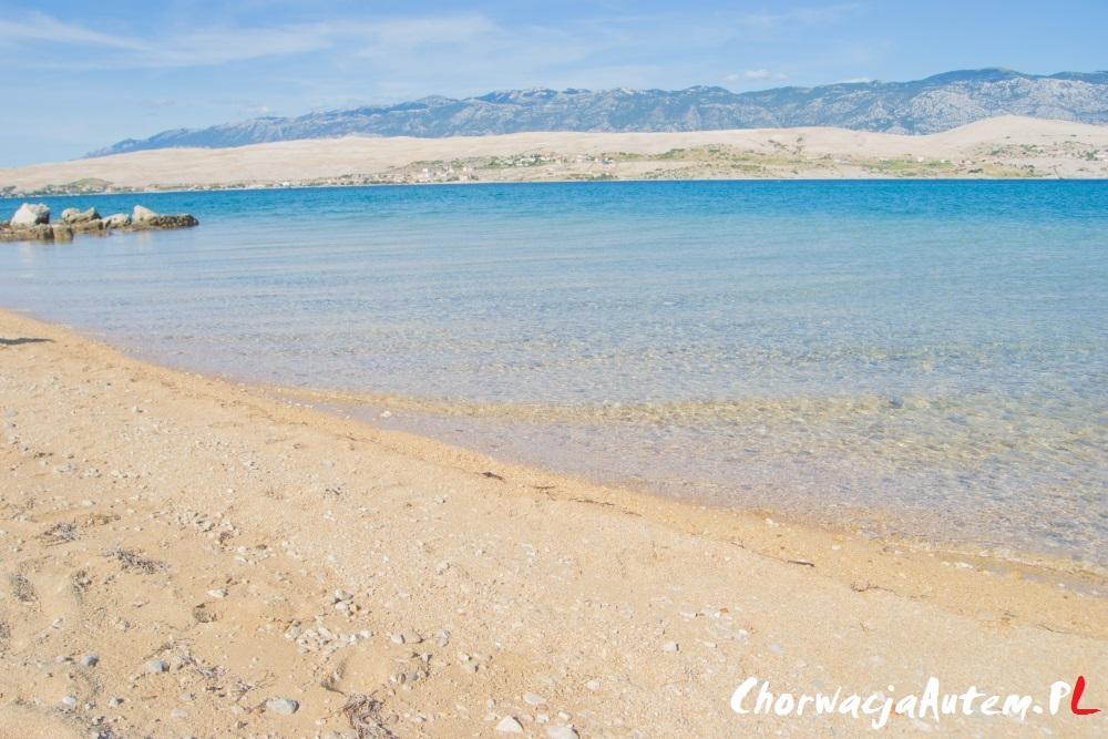 piaszczysta plaża Sv Duh, wyspa Pag