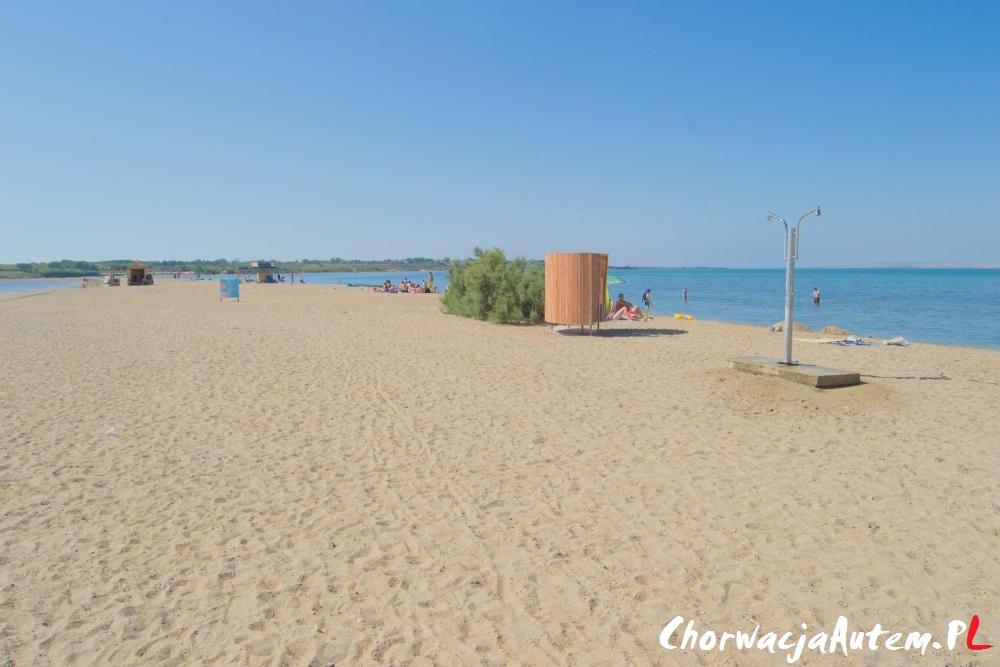 Ninska Laguna, piaszczysta plaża w Nin, koło Zadaru
