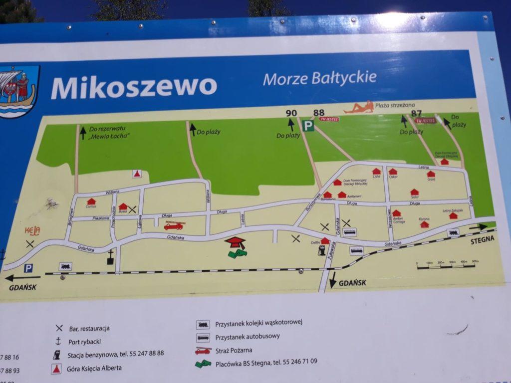 Mikoszewo plan plaż